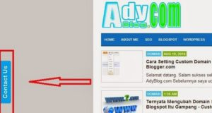Membuat Contact Form Melayang di Samping Blog