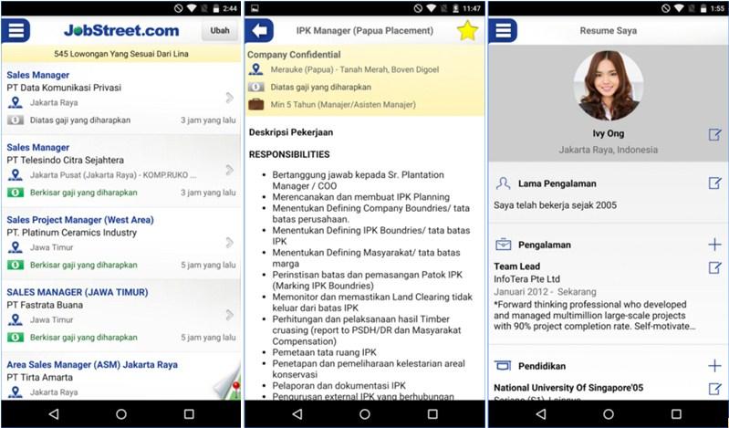 Aplikasi Android Untuk Pencari Kerja di Indonesia