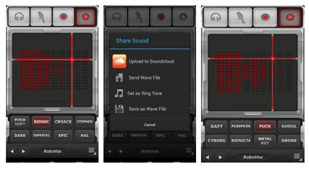 cara mengubah suara di android