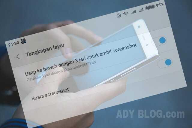 Cara Mengaktifkan Screenshot 3 Jari di Xiaomi