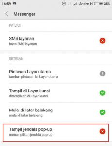 Cara Mengaktifkan Balon Obrolan Messenger di Xiaomi