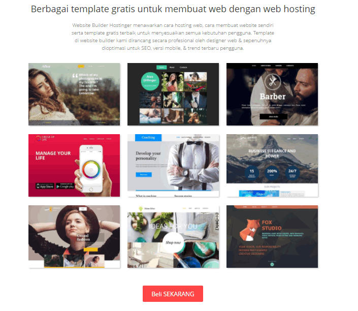 web builder hostinger