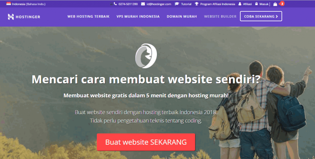 cara membuat website di hostinger