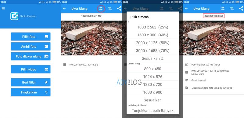 Cara Mengubah Dimensi Foto di Android