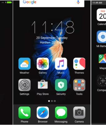 Download Tema Xiaomi iPhone 7 Dark