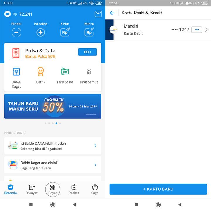 Cara Menyimpan Kartu Debit di Aplikasi DANA