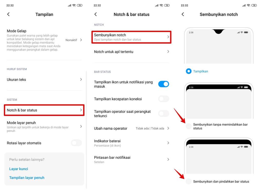 Cara Menghilangkan Poni di Redmi Note 7 MIUI 11