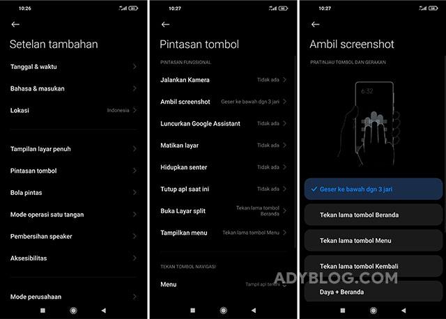 Cara Screenshot 3 Jari di HP Xiaomi MIUI 12