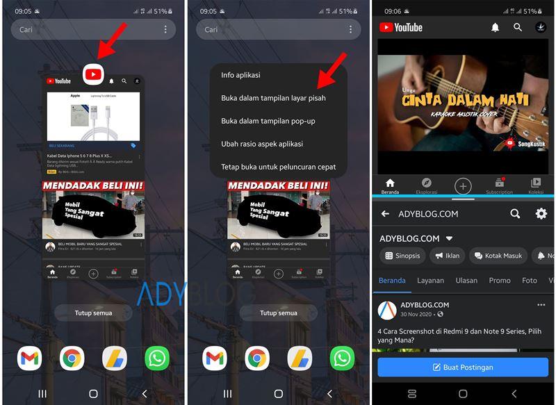Cara Split Screen Samsung Galaxy A12