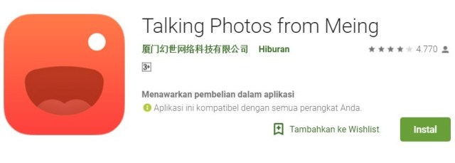 Download Talking Photo from Meing